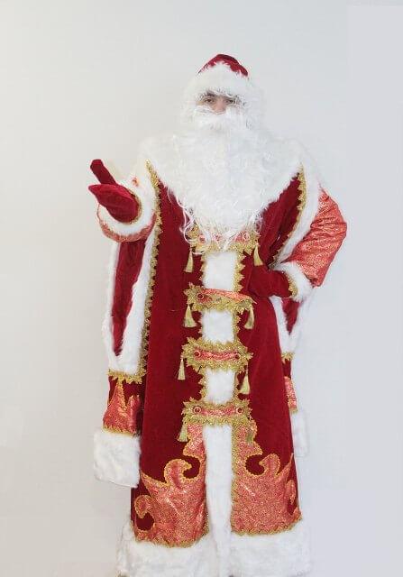 Костюм Деда Мороза с двойными рукавами